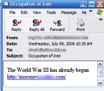 Inventan ataque de Estados Unidos a Irán para distribuir código malicioso