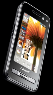 Un celular que se deja tocar